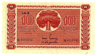 "Finland ... P-85 ... 10 Mark ... 1945 ... *XF* ... Prefix ""N"""