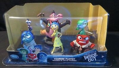 INSIDE OUT FIGURINE PLAYSET CAKE TOPPER SET 6 Disney Store Authentic Pixar toy
