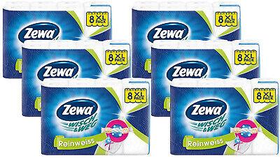 Zewa Wisch&Weg Reinweiss Küchenrolle mit Power-X-Struktur 48 Rollen 6er Pack