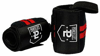Wrist Wraps for Weightlifting/Crossfit/Powerlifting/Bodybuilding Black/Red