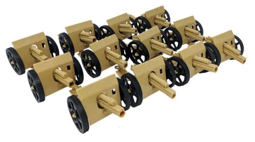 12 Pcs Army Desert Cannons with Moving wheels