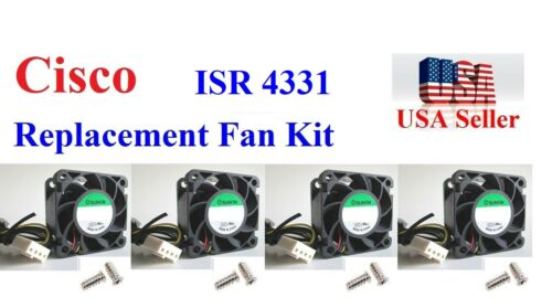 4 Pack Replacement (Fans only) for Cisco ISR4331 800-42129-01