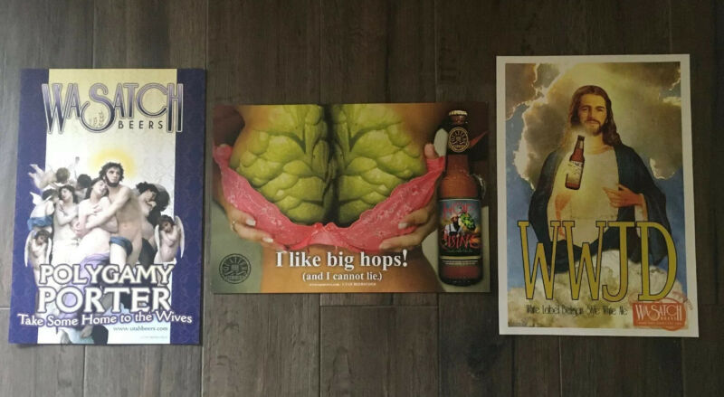 Rare Wasatch Beer Posters (3)