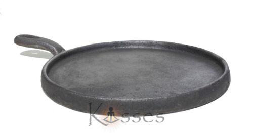 "New 8"" Comal Cast Iron Tortilla Griddle Skillet Fajita Kitchen cookware MEXICO"