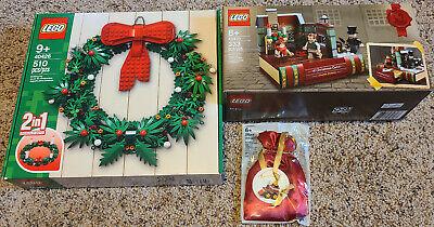 Lego 40426 Christmas Wreath 40410 Charles Dickens 5002813 2014 Train Ornament