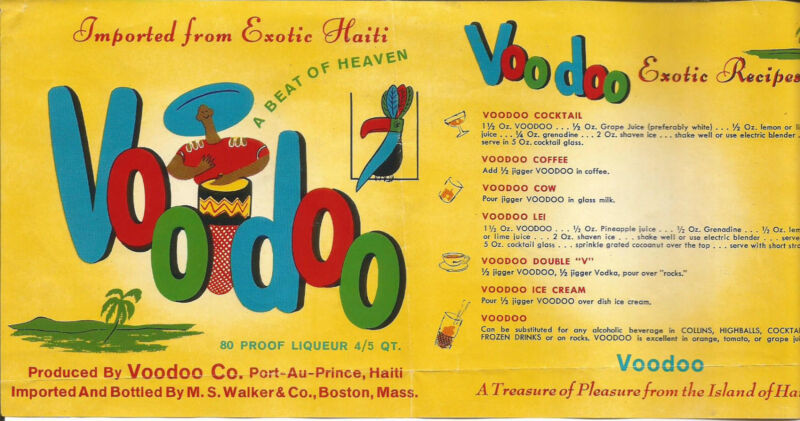 Label-VOODOO rum,A Beat of Heaven,A Treasure of Pleasure,HAITI.Port-Au-Prince,HT