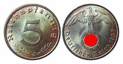J363   5 Pfennig  1937 J in VZ-STG  100070