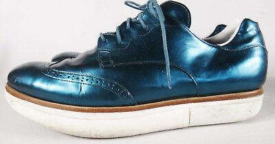 Y-3 Yohji Yamamoto ADIDAS BLUE metallic wingtip space uk 11d 11.5 blue men shoe