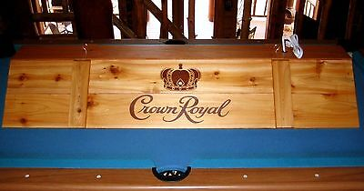 New Crown Royal Pool Table Billiards Light & Cue Rack Combo !!