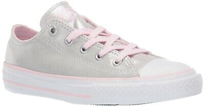 Converse Shoes Kids (Kid's Youth Converse Chuck Taylor All Star Twilight Silver Pink Shoes)