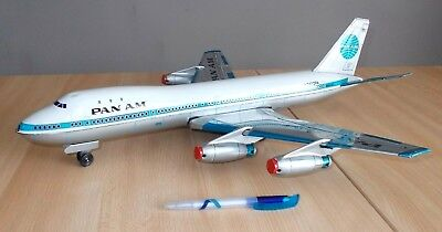 Ancien jouet / vintage tin BOEING 747 PAN AM friction - ATC made in Japan - 70s
