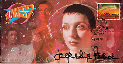 """Official Blakes 7 """"Servalan"""" Stamp Cover - Signed in person by JACQUELINE PEARCE"""