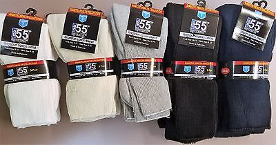 3 Pairs Diabetic Socks Supports Special Ultra Dry Comfort Edema Neuropathy (3 Pack Health Socks)