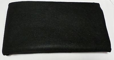 (7,99€/m²) Filz Boxen Teppich Bespannstoff Bezugsstoff 150x75cm schwarz 2424