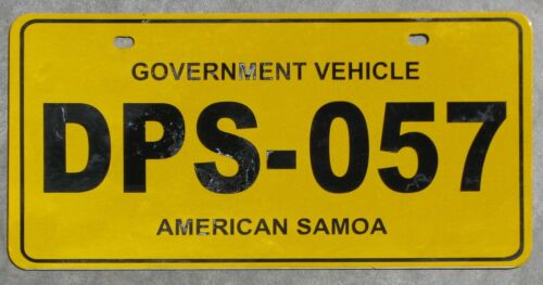 AMERICAN SAMOA TERR. POLICE / DEPT PUBLIC SAFETY  license plate  2005  DPS-057