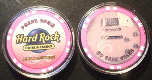 Hard Rock CASINO CHIP - Albuquerque, New Mexico - Poker Room - Pink - 2010