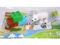 3 Steine LEGO Duplo Tierbaby 30322 Polybag Tüte 1 Tier = kleiner Eisbär NEU