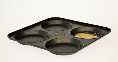 Carbon Steel Non-Stick 4 Hole Yorkshire Pudding Baking Tin Tray