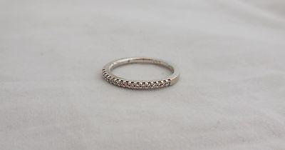 Vintage 14k White Gold and Diamonds Ring - Wedding Engagement? Size 7