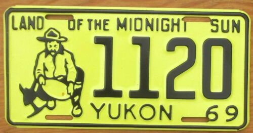 1969 Yukon License Plate Number Tag – NICE PLATE