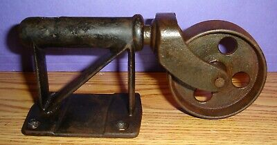 Vintage Cast Iron Wheels Toler Iron Works Large Side Mount 8 Available Nice