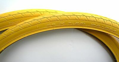 Pair of two Road Bike Bicycle Tire 26 x 1.25 DURO Yellow