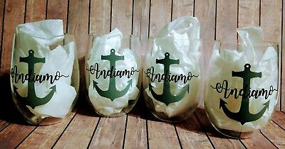 PERSONALIZED Acrylic Stemless Wine Glass - Use for any drink & design your own!](Design Your Own Drinking Glasses)