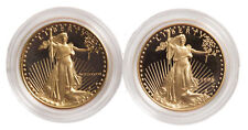 Lot of 2 - 1/2oz Proof Gold Eagle - Capsules Only (Random Date)