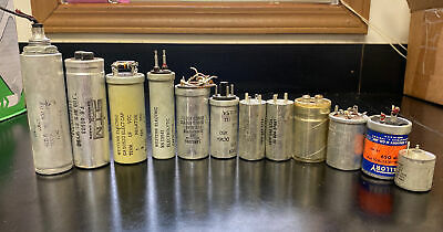 Vintage Radial Electrolytic Capacitor Assortment