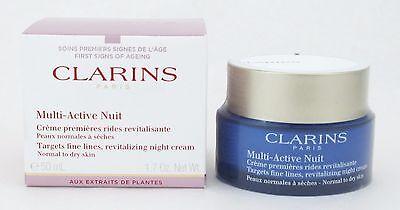 Clarins Multi-Active Night Revitalizing Cream Normal/Dry Skin 50 ml/ 1.7 oz NIB