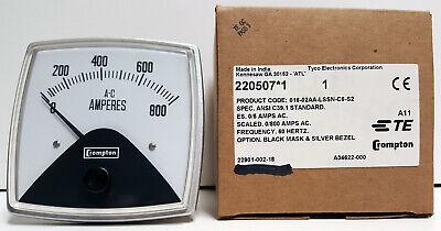 Crompton 016-02aa-lssn-c6-s2 Panel Meter 0-800 Amps Ac New - Open Box