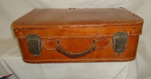 Vintage old Leather Suitcase with neatest  Locks