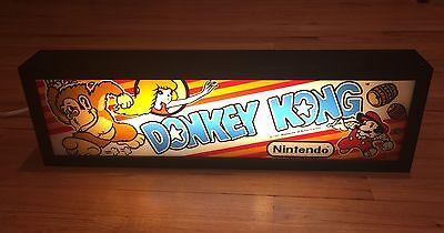Arcade Marquee Light Box.  Donkey Kong