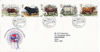 6 MARCH 1984 BRITISH CATTLE ROYAL MAIL FIRST DAY COVER BUREAU SHS