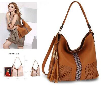 Ladies Fashion Handbags Designer Faux Leather Large Size Shoulder Hobo Bags New
