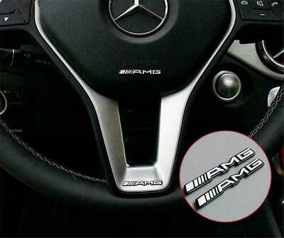 2 x Steering Wheel Badge Logo Emblem Sticker for Mercedes AMG- all vehicles
