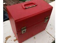 Vintage 70's Vinyl Record Box.