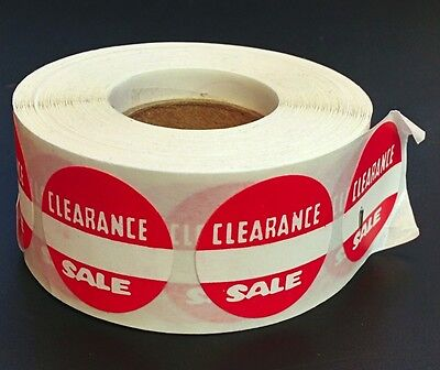 """500 Self-Adhesive Clearance Sale Round Retail Labels 1"""" Stickers Tags"""