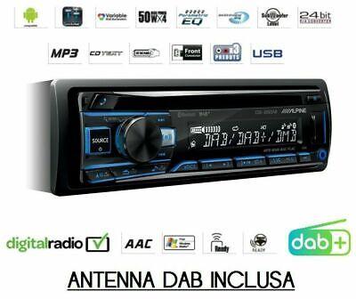 Alpine CDE-205DAB SINTO CD AUTORADIO MULTICOLOR BLUETOOTH USB 3 PRE DIGITALRADIO