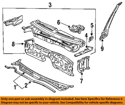 Acura HONDA OEM 1992 Vigor Cowl-Inner Pillar Right