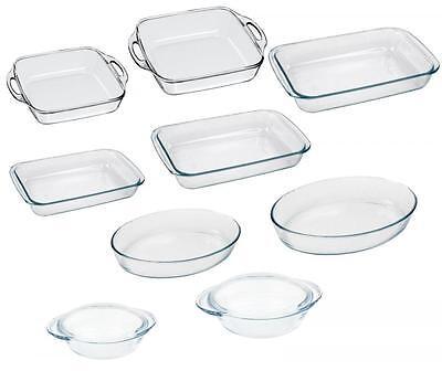 Marinex Glass Microwave Oven Baking Roasting Dish Roaster Safe Up To 300C
