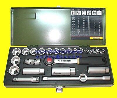 """PROXXON 23110 Satz Steckschlüssel Nusskasten Knarrenkasten 10mm (3/8"""") - NEU"""