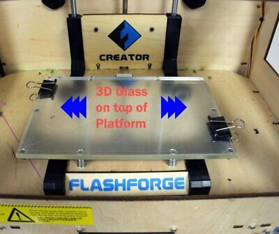 235X155MM borosilicate Glass plate for Flashforge Dreamer/Pro/Creator 3D Printer