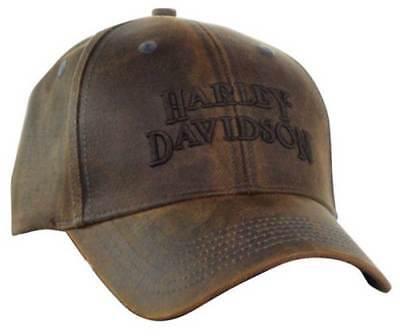 Harley Davidson Regal Brown Stone Washed Baseball Cap Motorcycle Hat Bc111439