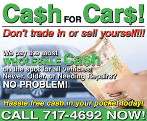 $$$$$$ CA$H FOR CAR$ $$$$$$....$60.00---$6000.00 CASH TODAY!!!!!