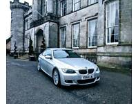 BMW 325D M-Sport Coupe Silver with Black Leather