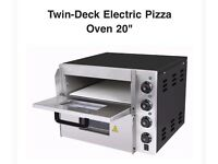 "Pizza Oven 20"" Electric Twin-Deck"