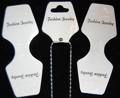 50 Necklacebracelet Fashion Jewelry Hanging Display Card 1 34 X 1 38