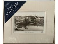 TWO Professionally Mounted Black and White Photographic Prints of Padstow - FREE P&P