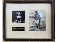 Mohammad Ali signed photo in double mounted frame with COA and other Ali items